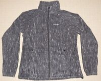 Womens Columbia Benton Spring Print Fleece Jacket Medium Black Gray Polka Dots