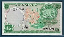 Singapore 5 Dollars, 1967, P 2a, XF