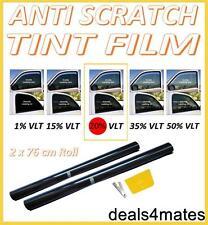 ANTI-SCRATCH PROFESSIONAL CAR WINDOW TINT FILM DARK SMOKE BLACK  20% 76cm x 6M
