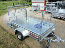 8x5 SINGLE AXLE UNBRAKED,CAGED,BOX TRAILER,