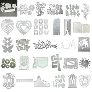 Flower Leaves DIY Metal Cutting Dies Stencil Scrapbooking Album Embossing Craft