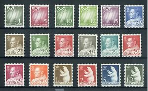 [310884] Greenland 1963/68 good set very fine MNH stamps
