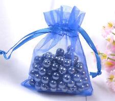 10pcs sapphire blue Organza Jewelry Gift Pouch Bags 9X7CM SH529