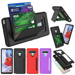 For LG Stylo 6 Wallet Case Full Protective Stand Phone Cover with Card Holder