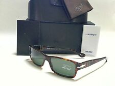 NEW AUTHENTIC PERSOL PO2803S 24/31 HAVANA/CRYSTAL GREEN 58mm SUNGLASSES