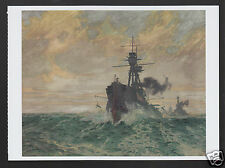 CHARLES PEARS Streaming the PVs: Paravanes Ship WWI ART MODERN POSTCARD