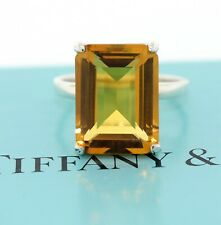TIFFANY & CO Sparklers Cocktail Citrine Ring Sterling Silver Sz 7.75