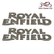 Pair Stickers Gold Petrol Gas Tank Enfield  Logo Badge Bullet Fuel Embossed 3D