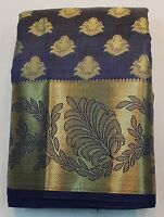 Indian Ethnic Traditional Banarasi Art Silk Saree Sari Bridal Party Dress