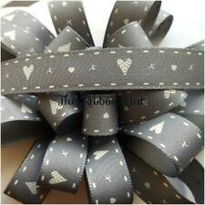 1Mtr Lengths of 15mm Hearts & Kisses Printed Ribbon 4 Colours by Berisfords