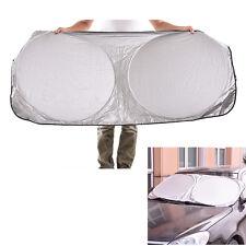 Car Collapsible Sunshade Shield Visor Front Rear Window Curtains Large Visor Hot