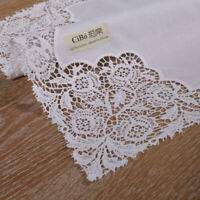 1piece White premium cotton lace handkerchiefs for women/ladies wedding gift