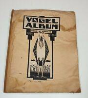 Vintage Bird Album nr 1 by K Boedijn Dutch Vogel Album Klaverblad