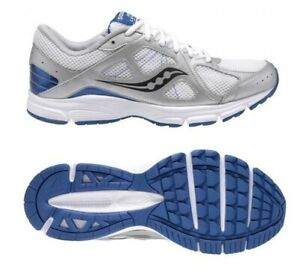 Saucony Lexicon Grid Running Shoes Mens 8.5 White Silver Trainers 8 25172-1
