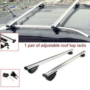 "2PCS Adjustable 48"" Car Auto Cross Bar Top Luggage Roof Rack Cargo Rail Aluminum"