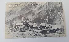 Postcard Marble Colorado Quarry Hauling Steam Engine