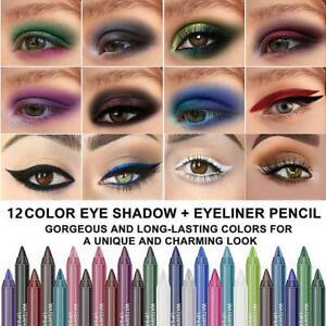 Eyeliner Pencil Matte Glitter Waterproof Eye Shadow Lip Liner Makeup Gel  Pen