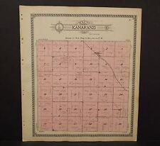 Minnesota Rock County Map Kanaranzi Township 1914 Y13#45