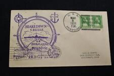 NAVAL COVER 1936 SHIP CANCEL SHAKEDOWN CRUISE USS PORPOISE (SS-172) (5871)