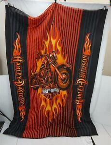 Harley Davidson Motorcycles Bedspread Twin Comforter Bedding Size 63x86