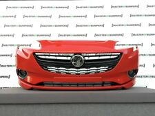 VAUXHALL CORSA E OPC SPORT 2014-2018 FRONT BUMPER IN RED GENUINE COMPLETE [Q221]