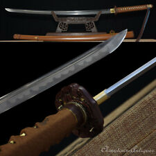 Japanese Military Officer's Sword Folded Combat Steel Blade Clay Tempered #1347