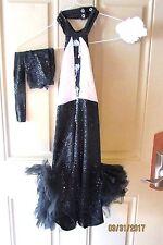 Dance Theatrical Costume Ballerina Jazz Black White Accessories