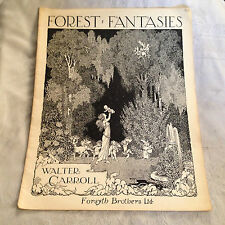W Heath Robinson / Walter Carroll - Forest Fantasies  - Art Nouveau, Sheet Music