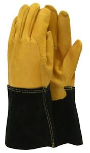 Town & Country TGL415 Deluxe Premium Leather Gauntlet Mens Gloves