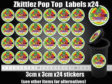 24x Zkittlez pop top Labels Stickers RX medical Marijuana weed Cannabis Cali CBD