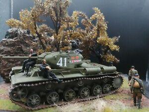 Trumpeter 01566 KV-1S Heavy Tank 1:35 Built & Painted