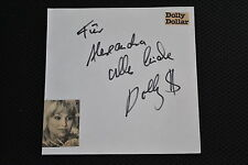 Dolly dollars signed autographe en personne album feuille 1981