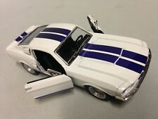 "1967 Ford Shelby Mustang GT-500 5"" Diecast Car 1:38 Pull Back Kinsmart Toy White"