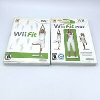 Wii Fit & Wii Fit Plus Lot Nintendo Wii Complete CIB With Manual FREE SHIPPING