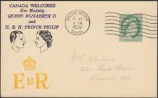 CANADA, 1959. Post Card QEII 87. Royal Visit Cachet, Windsor