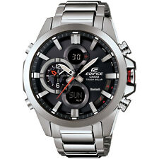 Casio Men's ECB500D-1A 'Edifice' Chrono Analog-Digital Stainless Steel Watch