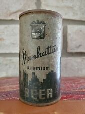Manhattan beer 12 ounce flat top beer can Chicago Illinois Oi