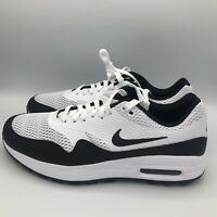 Nike Air Max 1 G Men's Spikeless Golf Shoes White Black CI7576-100 Size 10-11.5