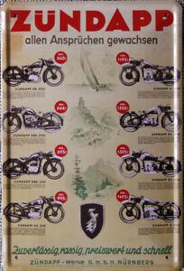 Blechschild, 20x30 cm, Motorräder, Zündapp allen Ansprüchen gewachsen, Neu, OVP