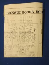 Sansui 5000A Schematic Diagram Factory Original The Real Thing