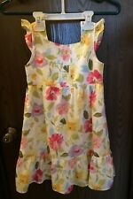 Gymboree Girl's Size 5 Flowery Pastel Colors Dress Vguc Fully Lined Sleeveless