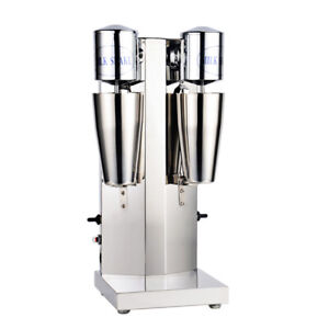 Commercial Blender Milk Shake Machine Stainless Steel Double Head Drink Mixer US