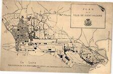CPA  Plan - Ville de Saint-Nazaire - La Loire   (222885)