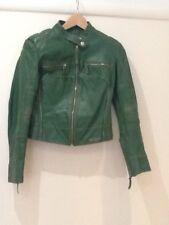 Miss Sixty Vintage Look Leather Biker Jacket Size Small