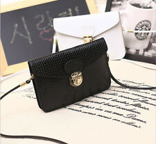 Black Lady's Mini Cross-body Purse Wallet Mobile Phone Coin Card Shoulder Bag