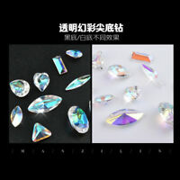 Nail Art Wheel AB Rhinestone Crystal Gems Glitter 3D Tips Decoration Accessories