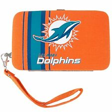 Littlearth Miami Dolphins Shell Wristlet 3.5 x 0.5 x 6-Inch, Orange