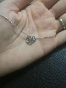 Silver Plated Pendant Necklace With Three Rings