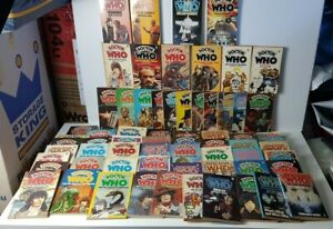 Vintage Doctor Who Books from 1970's and 1980's