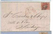 Chile 5c on 1865 cover w/ message (20beo)